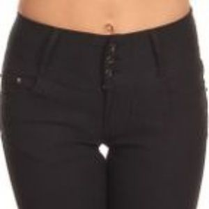 Pants - BLACK HIGH WAIST PANTS